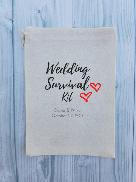 etsy wedding rescue kit survival bag