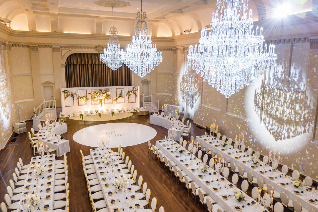 Historic Montgomery Hall wedding venue luxurious reception historic